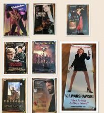 Vintage Movie Posters 27x40 Delta Force, Spartacus,Moulin Rouge 24x36 lot of 8