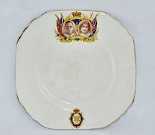 1937 Phoenix Ware KING GEORGE VI Coronation Square Cake/Side/Bread & Butter Plat