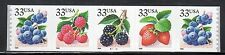 Sc# 3305a 33 Cent BERRIES (1999) MNH PNC/5 P# B2222 SCV $10.00