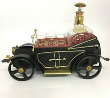 Vintage Musical Decanter Car With 6 Shot Glasses Drinking Set 31009 CP
