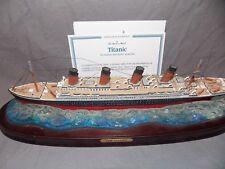 Danbury Mint replica Titanic wood base