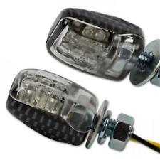 LED MINI Motorrad Blinker Nano schwarz klares Glas M6 E-geprüft