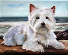 MSSMITH Westie west highland terrier PRINT dog portrait