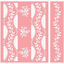 Anna Griffin Cricut Cuttlebug Embossing Folder Combo  - 2 pc set Organdy Stripe