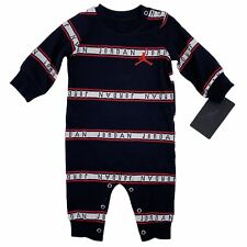 Jordan Black Red Logo Stripe One Piece Bodysuit Baby Boy Size 3M