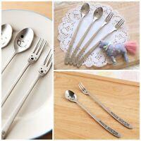 Tableware Steel Wicker Rocking Dessert Coffee Tea Cake Fork & Spoon