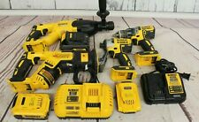 Dewalt (4) Brushless Tool Combo with 3 Batteries and 2 Chargers