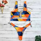 Lace Up Swimwear Women Bikini Set Two Pieces Swimsuit Thong Bathing Suit Spandex
