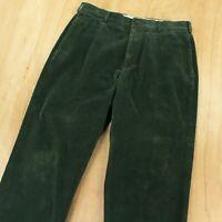 Brooks Brothers Hudson wide wale corduroy pants 35 x 27 (35 x 30 tag) green