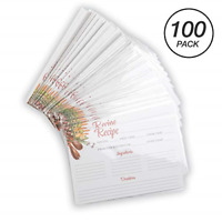 "Samsill 100 Recipe Cards + 100 Recipe Card Protective Sleeves, 4"" x 6"" Clear and"