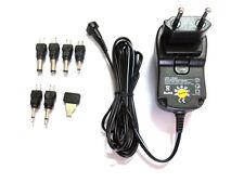 1000mA 500mA Universal AC - DC Power Supply Adaptor Multi Voltage + 6 Head Tips