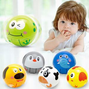 Cartoon Animal Hand Grip Shake Ball Baby Rattle Bell Tumbler Developmental Toy M