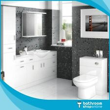 Bathroom Furniture Gloss White Cabinet Storage Vanity Unit Basin Sink