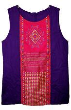 Indian Rayon Dress Blouse Top Hippie Boho Embroidery Tunic Retro Ethnic Kurti