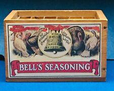 Pen & Pencil Holder Bell's Seasoning Miniature Wooden Crate Advertising Repro