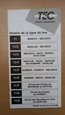 ▲ TEC Luxembourg - 1 guide horaire ligne 11 - 11/2 - 11/3 - ... 11/9 Manhay ...