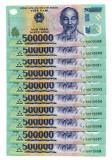 5 MILLION DONG = 10 x 500,000 500000 VIETNAM POLYMER CURRENCY BANKNOTES UNC