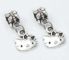 Charms hello kitty plata pulsera europea 2 unidades envio gratis.