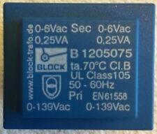Block Vb 15a2 Pri 0 139vac Sec 0 6vac 025va 50 60hz Pcb Transformer En61558