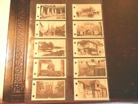 1925 Sarony LINKS WITH PAST historic photos comp.set 50 Tobacco Cigarette cards