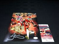 TYREEK HILL KANSAS CITY CHIEFS SIGNED 8X10 PHOTO JSA WITNESS COA SB LIV CHAMPS