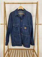 VTG Big Ben Men's Unlined Denim Chore Barn Jacket Coat Size L USA