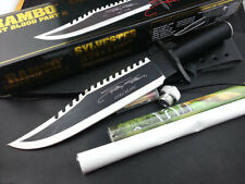 Rambo First Blood 2 II Signature Autograph Bowie EDITION Licensed SURVIVAL Knife
