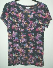 New & Tagged M&S Sleepwear Soft-Feel PYJAMA LOUNGE TOP Navy Print Size 10
