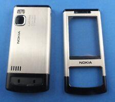 Original Nokia 6500 slide 3tlg. frente a cover B cover Tapa batería set plata nuevo