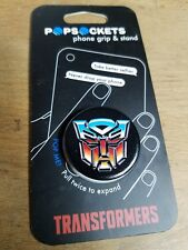 PopSockets Single Phone Grip PopSocket Universal Phone Holder Autobot Icon BK BK