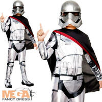 Captain Phasma Kids Fancy Dress Star Wars The Force Awakens Stormtrooper Costume