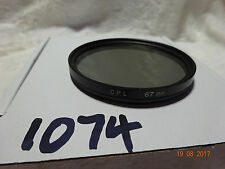 67mm Circular Polarizer  Filter  cir pl polariser unmarked