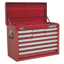 Topchest 10 Drawer with Ball Bearing Slides - Red - Sealey - AP33109