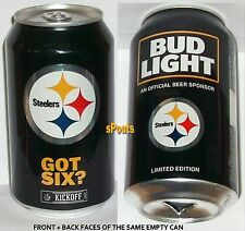 2017 PITTSBURGH STEELERS NFL KICKOFF BUD LIGHT BEER CAN TEAM SPORTS FAN FOOTBALL