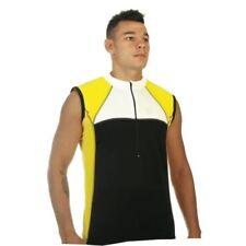 Abbiglimento sportivo da uomo traspirante giallo senza maniche