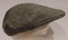 Vtg Dobbs 5th Avenue Black White Tweed Newsboy Cabbie Cap Hat Sz M 7  7 1/8 USA