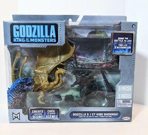 Godzilla 2019 King Of The Monsters King Ghidorah Battle Pack Set Jakks Pacific