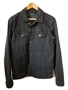 Jack Jones mens denim black jacket