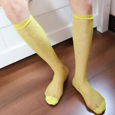 Nice Fashion 1 Pair Men's Sexy Knee High Long Dress Nylon Mesh Sheer Socks