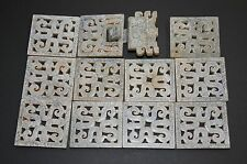"""Chinese Warring States Period Old Jade Carved 12 Dragon Piece A set """"Dai Ban"""""""