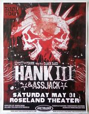 HANK WILLIAMS III & ASSJACK 2008 Gig POSTER Portland Oregon Concert