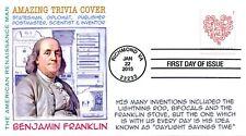 COVERSCAPE computer generated Benjamin Franklin Trivia FDC