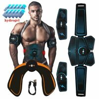 Abdominal Muscle Stimulator ABS Wireless Trainer Fitness Stickers Body Belt Set