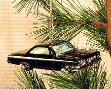 1962 CHEVY BUBBLE TOP Chevrolet CHRISTMAS ORNAMENT Black rare XMAS