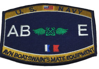 """US Navy Aviation Boatswain's Mate ABE Rating Patch 4 1/2"""" x 3 1/4"""" Licensed"""