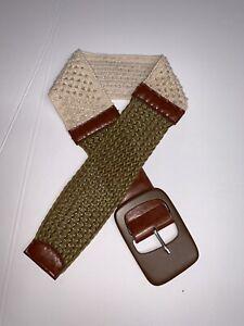 Women`s belts Ladies Wide Belt brown Wide Stretch One size