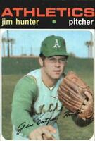 1971 Topps Oakland Athletics Baseball Card #45 Jim Hunter - EX