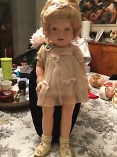 """SHIRLEY TEMPLE 1935 IDEAL 22"""" COMPOSITION DOLL WITH PIN/ORIGINAL NRA LABEL FROC"""