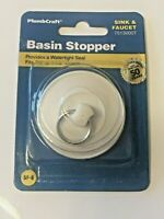 "BASIN STOPPER, FITS 7/8"" TO 1-1/2"" DRAINS, SINK & FAUCET, 75-130, PLUMB CRAFT"