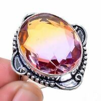 Ametrine 925 Sterling Silver Jewelry Ring S.9 M268183